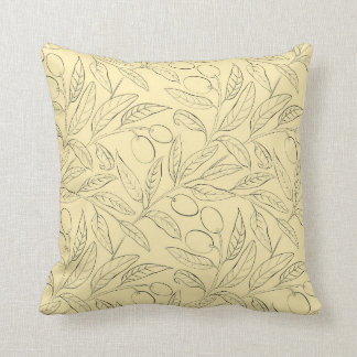Natural Olive Decorative Throw Pillow in Yellow クッション