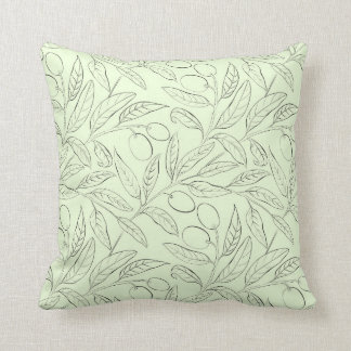 Natural Olive Decorative Throw Pillow Mint Green クッション