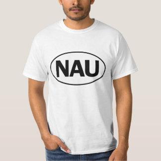 NAUの楕円形のアイデンティティの印 Tシャツ
