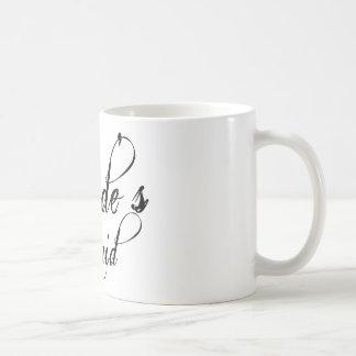Naughyのグランジな原稿-花嫁の女中の黒 コーヒーマグカップ