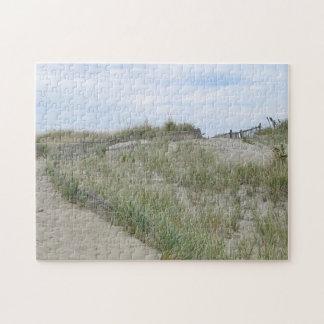 Nausetの砂丘は、ケープコッド浜に引き上げます ジグソーパズル