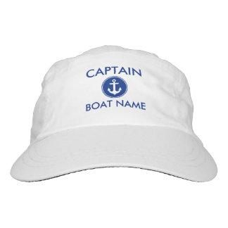 nautical Anchor Your Boat大尉の一流の帽子 ヘッドスウェットハット
