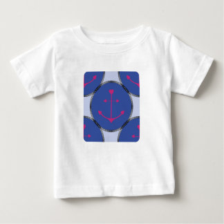 Nautical_Patch-Anchor's_Toddler-Adult-Multi-Top ベビーTシャツ