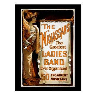 """""""Navassars""""のヴィンテージのボードビル ポストカード"""