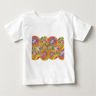 NAVEENすべてのスマイル: 抽象的な花模様 ベビーTシャツ