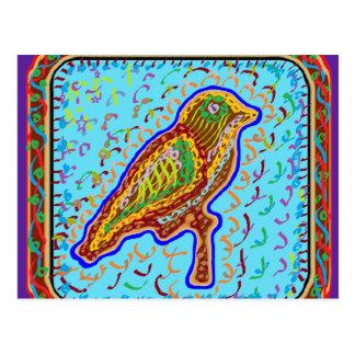 Naveen: さえずりの季節的な鳥 ポストカード