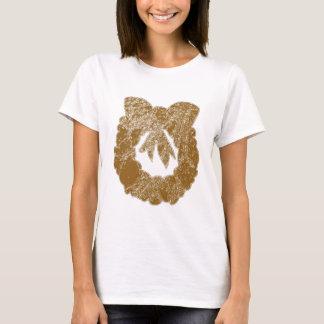 Navin著金ゴールドの輝きのリース Tシャツ