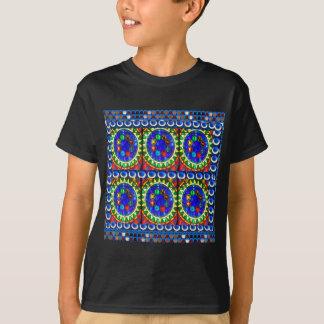 Navin Joshiからの暗いワイシャツの4つ石のデザイン Tシャツ