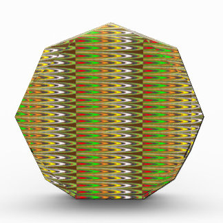 NAVIN JOSHIのギフトによるWOWの緑の輝きの波パターン 表彰盾