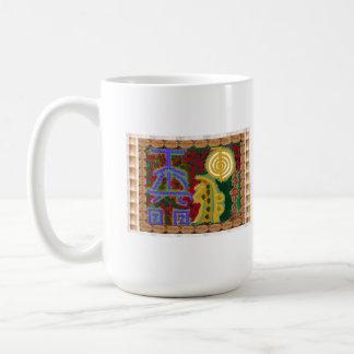 Navin Joshiの芸術家によるカナダ霊気の治療の記号 コーヒーマグカップ