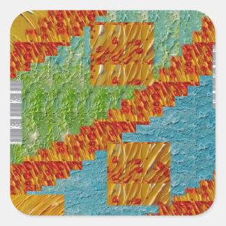 NavinJOSHI NVN47著エキゾチックな芸術のコラージュの装飾 スクエアシール