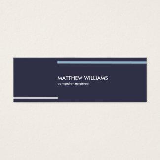 Navy blue minimal stripes masculine elegant card スキニー名刺