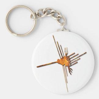 Nazcaのハチドリの錆Keychain キーホルダー
