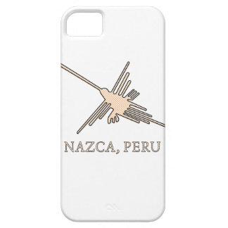 NazcaのハチドリのGeoglyphの新聞用紙 iPhone SE/5/5s ケース