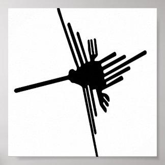 Nazcaのハチドリポスター ポスター