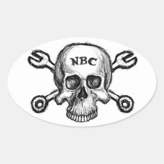 NBCのスカル 卵形シールステッカー