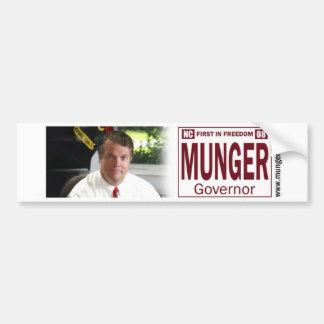 NCの知事のためのMunger バンパーステッカー