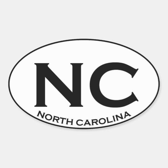 NC -ノースカロライナ 楕円形シール