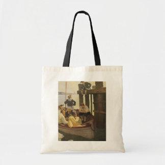 NC Wyethによる女王のフェリー、ヴィンテージの海賊 トートバッグ