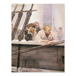 NC Wyethによる霧のヴィンテージの海賊ブリッグの契約 カード