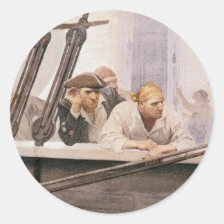 NC Wyethによる霧のヴィンテージの海賊ブリッグの契約 ラウンドシール