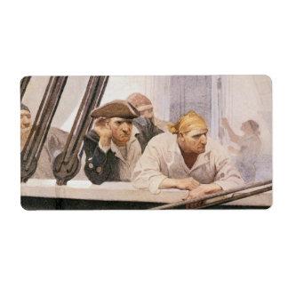 NC Wyethによる霧のヴィンテージの海賊ブリッグの契約 ラベル