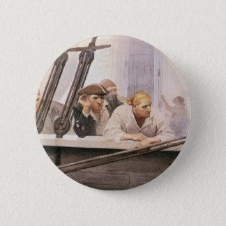 NC Wyethによる霧のヴィンテージの海賊ブリッグの契約 5.7cm 丸型バッジ