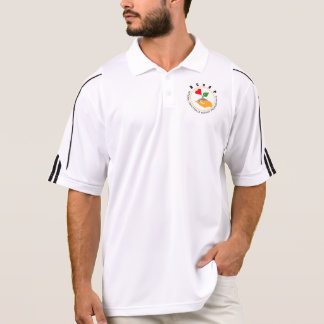 NCOAPの男性アディダスのゴルフClimaLite®のポロシャツ ポロシャツ