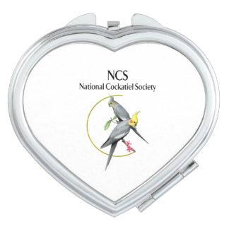 NCSのハート形の密集した鏡