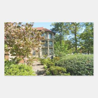 NCSSMのレイノルズ寮、ダラム、ノースカロライナ 長方形シール