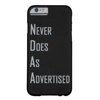 NDAA -決して広告されるようにしません BARELY THERE iPhone 6 ケース