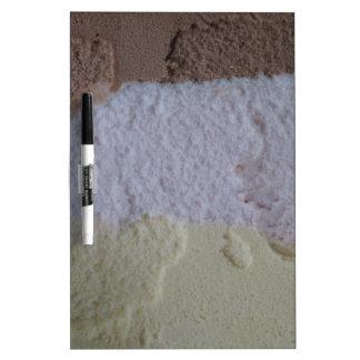 Neapolitanアイスクリームのホワイトボード ホワイトボード