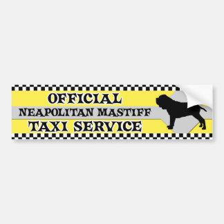 Neapolitanマスティフのタクシーサービスバンパーステッカー バンパーステッカー