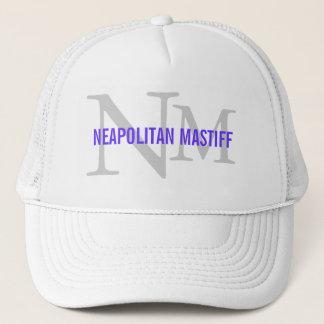 Neapolitanマスティフの品種モノグラムのデザイン キャップ