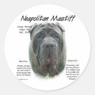 Neapolitanマスティフの(灰色の)歴史のデザイン ラウンドシール