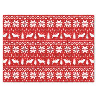 Neapolitanマスティフはクリスマスパターンのシルエットを描きます 薄葉紙