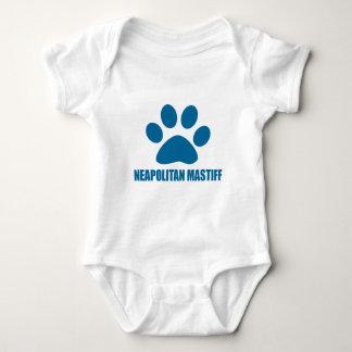 NEAPOLITANマスティフ犬のデザイン ベビーボディスーツ