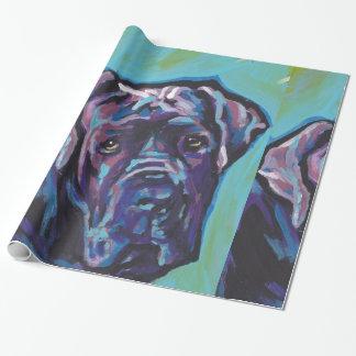 neapolitanマスティフ犬のポップアート ラッピングペーパー