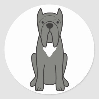 Neapolitanマスティフ犬の漫画 ラウンドシール