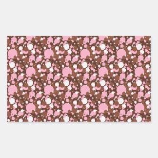 Neapolitan点ブラウン03のM-RECTANGULARのステッカー 長方形シール