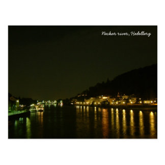 Neckar川(夜) ポストカード