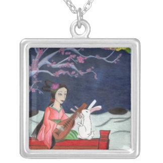 Necklace月の女性 シルバープレートネックレス