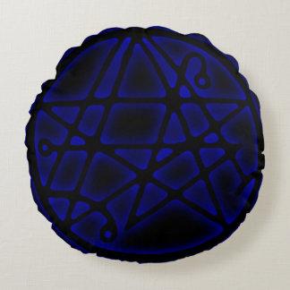 Necronomicon青いSigilの出入口の円形の枕 ラウンドクッション