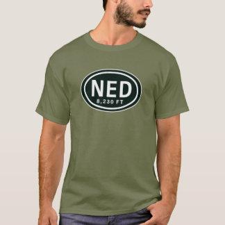 Nederlandコロラド州8,230のFT ELのロッキー山脈NED Tシャツ