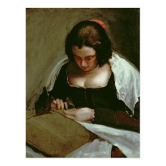 Needlewoman、c.1640-50 ポストカード