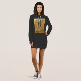 Nefertitiのフード付きスウェットシャツの服 ドレス
