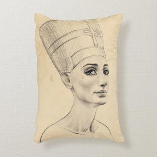Nefertitiのポートレートのパピルスの質のアクセントの枕 アクセントクッション