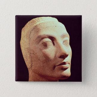 Nefertitiの未完成の頭部、新しい王国 5.1cm 正方形バッジ