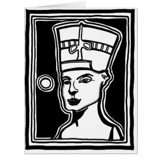 NefertitiのAncientAgesPrints著大きい挨拶状 カード