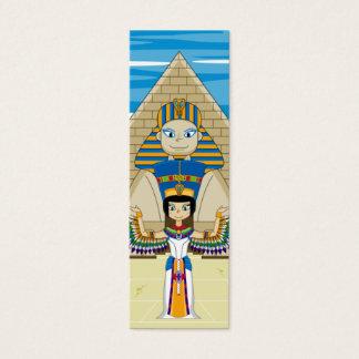 Nefertitiエジプトの女王及びCleopatraのしおり スキニー名刺